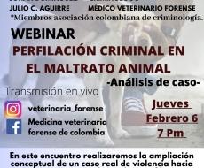 Webinar perfilación criminal en el maltrato animal-Análisis de caso-