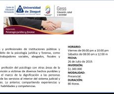 Diplomado en psicología jurídica y forense