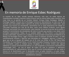 En memoria de Enrique Esbec Rodríguez